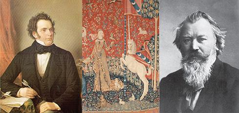 Schubert, Dame à la Licorne, Brahms