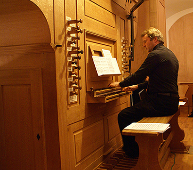 Francis Jacob à l'orgue de Saessolsheim