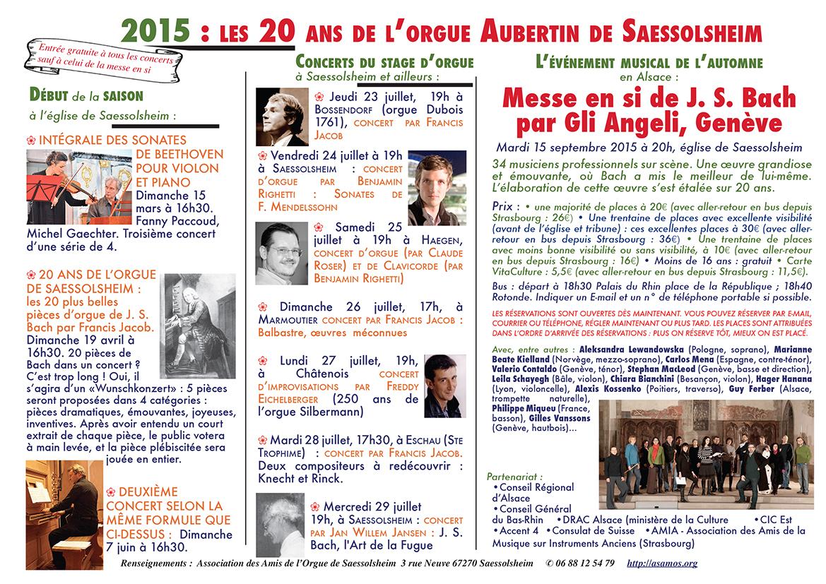 annonce internet concerts jusqu'à la messe en si Français BD