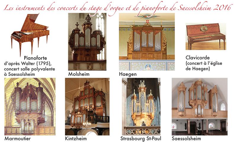 les instruments des concerts du stage d'orgue de Saessolsheim 2016 HD
